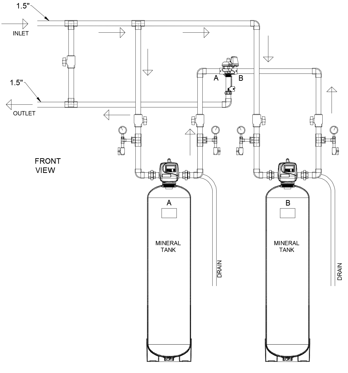 """1.5"""" Duplex Alternating Activated Coconut Shell Carbon Filter"""
