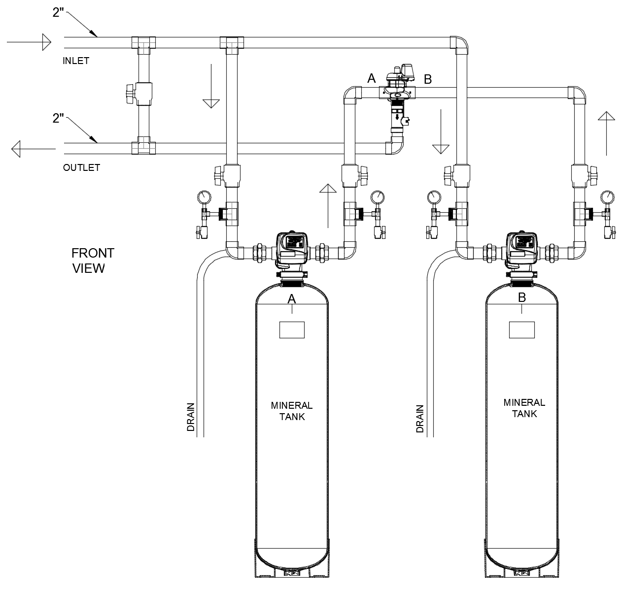 """2""""QC Duplex Alternating Activated Coconut Shell Carbon Filter"""