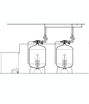 "Series EWS 2"" H Duplex Commercial Water Softener"