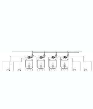 "Series EWS 2"" H Quadplex Commercial Water Softener"