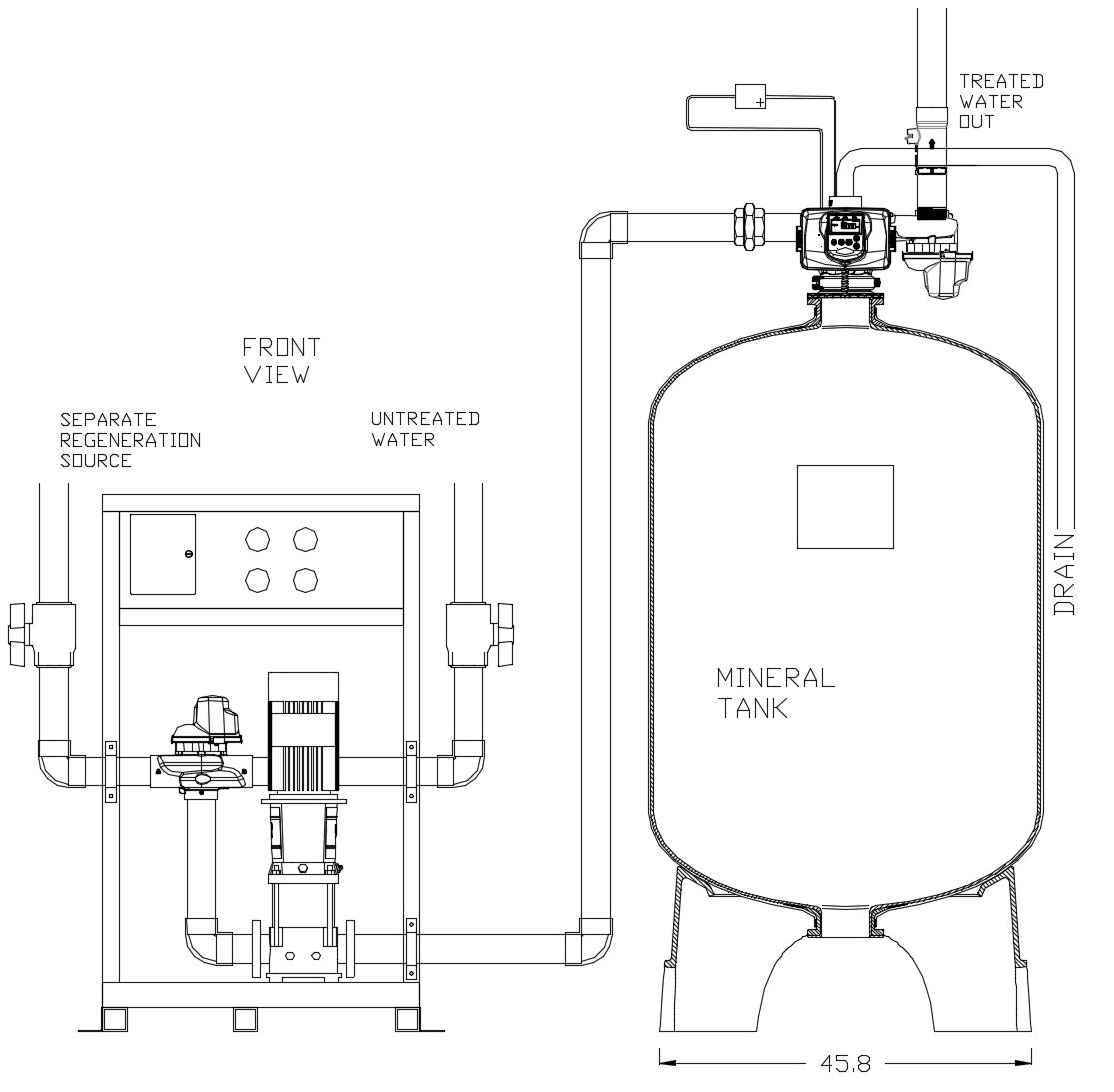 Simplex Cooling Tower Side Stream 5-Micron Filter System