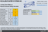 Excalibur Reverse Osmosis System Cooling Tower Calculator