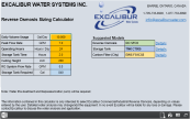 Excalibur Reverse Osmosis System Calculator