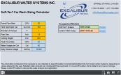 Excalibur Soft-Tec Water Conditioner Carwash Calculator