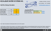 Excalibur Soft-Tec Water Conditioner Calculator