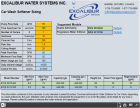 Excalibur Water Softener Carwash Sizing Calculator