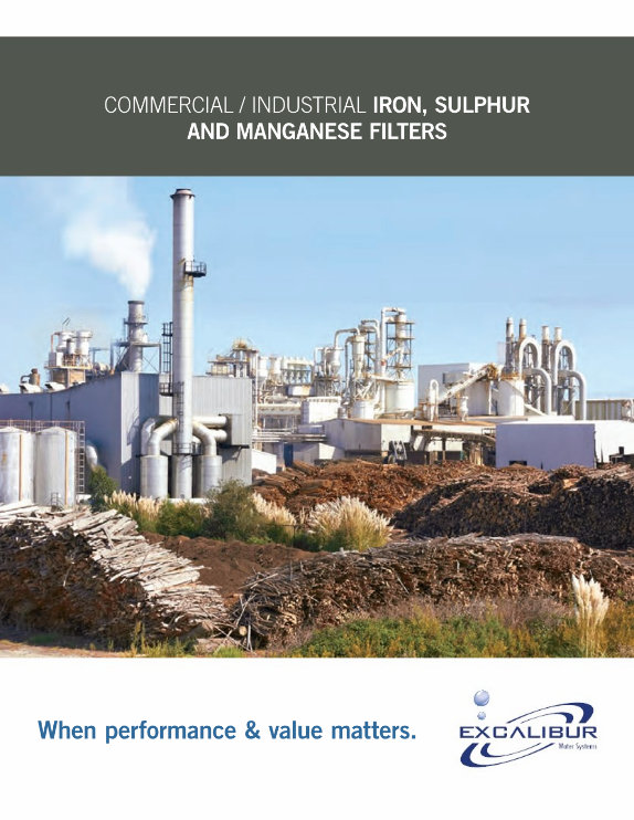 Excalibur commercial iron, sulphur and manganese filters brochure
