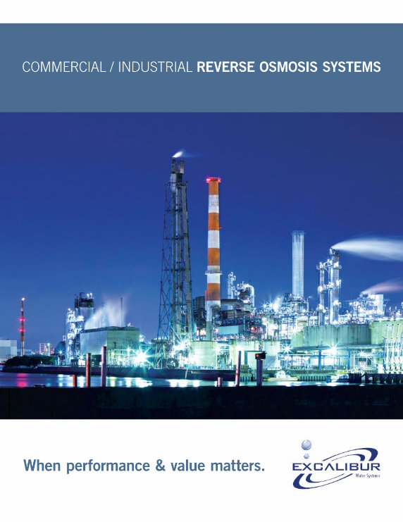 Excalibur commercial reverse osmosis systems brochure