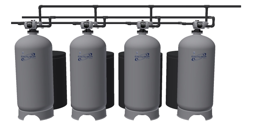 Excalibur industrial water softener system