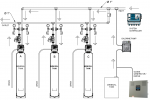 Triplex progressive flow Iron/Sulphur/Manganese Filter schematic