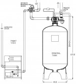 Simplex Cooling Tower Side Stream 1-Micron Filter System
