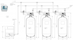 Controlled Regeneration Cooling Tower Side Stream 1-Micron Triplex Filter System