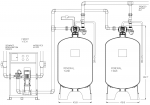 Twin Parallel Cooling Tower Side Stream 5-Micron Filter System