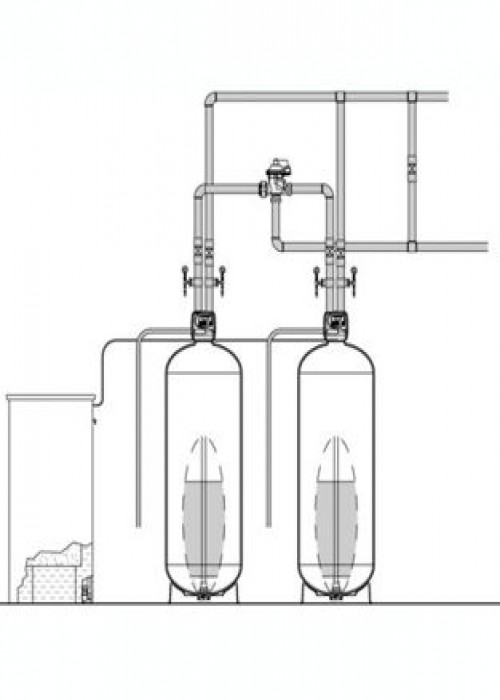 "Series EWS 1.0"" Duplex Commercial Water Softener"