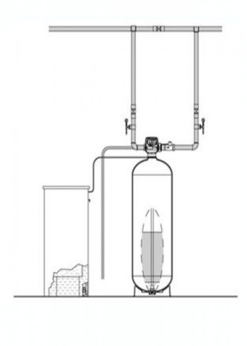 "Series EWS 1.5"" Simplex Commercial Water Softener"