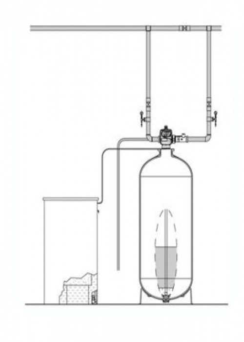 "Series EWS 2.0"" L Simplex Commercial Water Softener"