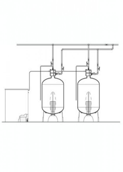 "Series EWS 3"" Duplex Commercial Water Softener"